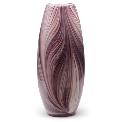 Violet Feather Tall Vase