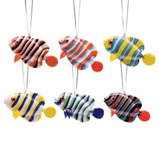 Glassdelights Ornament Angelfish - Set Of 6