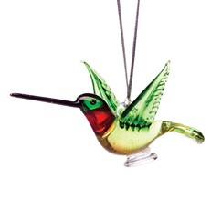 Glassdelights Ornament Hummingbird