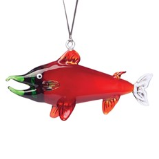 Glassdelights Ornament Red King Salmon