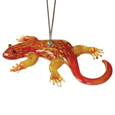 Glassdelights Ornament Gecko - Red