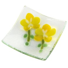 Yellow Orchid Plate 4""