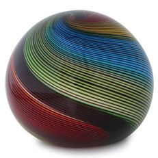 Large Paperweight - Rainbow Twist