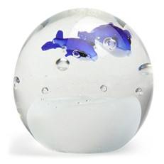 Small Paperweight - Dolphins Glow