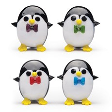 Mini Penguin With Bow Tie, Set Of 4