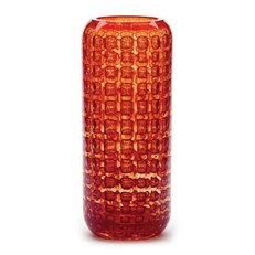 Cubic Tall Vase - Coral