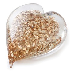 Double Sided Heart - Gold Flakes