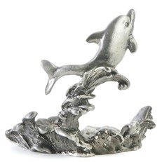 Metal Paperweight Stand - Dolphin