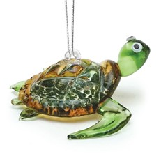 Glassdelights Ornament Baby Sea Turtle - Green