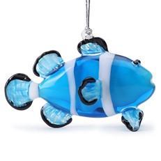 Glassdelights Ornament Electric Blue Clownfish