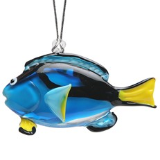 Glassdelights Ornament Blue Tang Fish