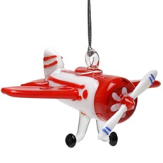 Glassdelights Ornament - Vintage Airplane