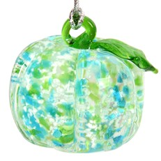 Glassdelights Ornament - Pumpkin, Blue/Green Glow
