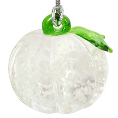 Glassdelights Ornament - Pumpkin White Glow