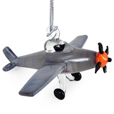 Glassdelights Ornament - P-51 Mustang Airplane