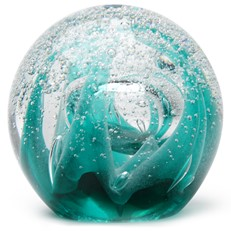 Large Paperweight - Ice Cave Teal Glow