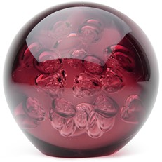 Large Spa Bubbles Paperweight - Eggplant