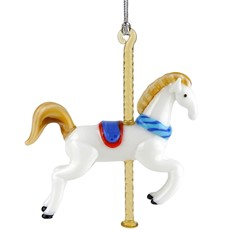 Glassdelights Ornament - Carousel Horse