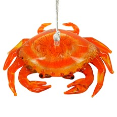 Glassdelights Crab Ornament
