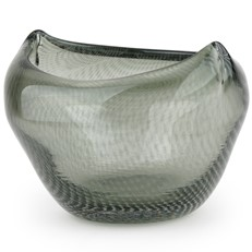 Glass Gallo Bowl, Grey