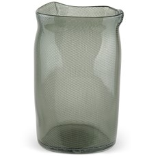 Glass Gallo Vase, Grey
