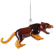 Glassdelights Saber Tooth Cat Ornament