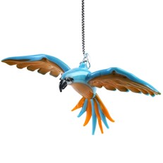 Glassdelights Ornament Flying Macaw - Blue/Gold