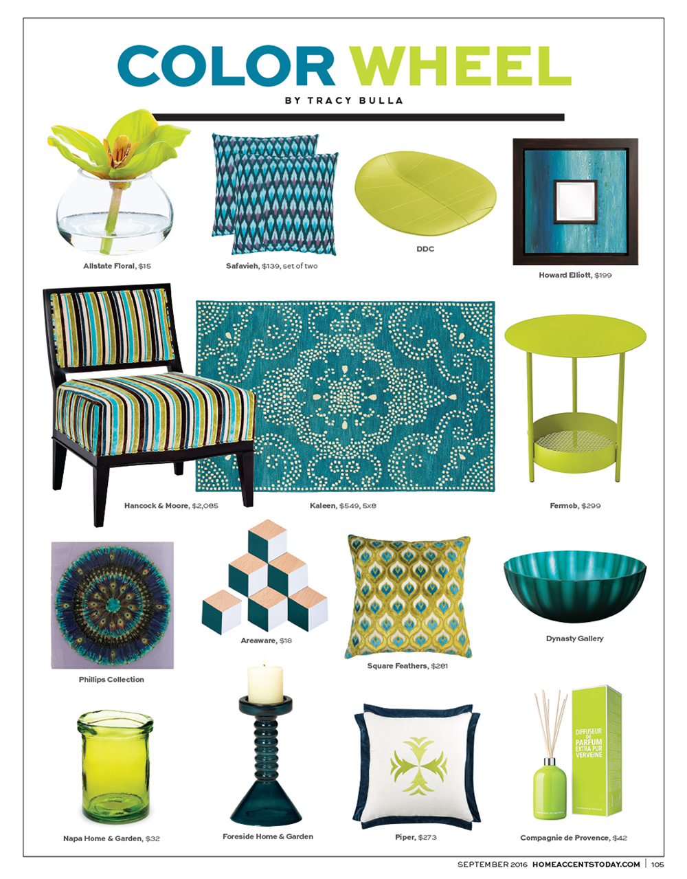 Home Accents Today - 2016 September Color Wheel