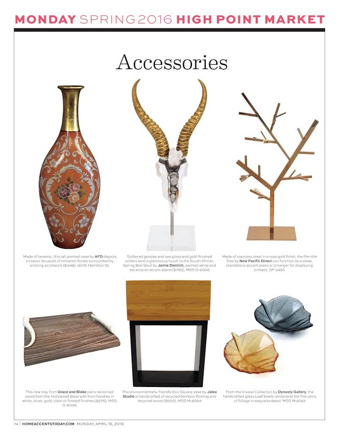 Home Accents Today - High Point Dailies - April 18, 2016