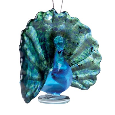 Glassdelights Ornament Peacock