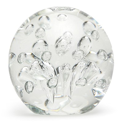 Large Spa Bubbles Paperweight - Clear