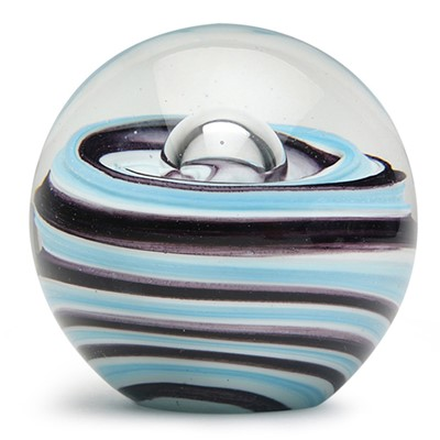 Large Paperweight - Blueberry Twist Glow