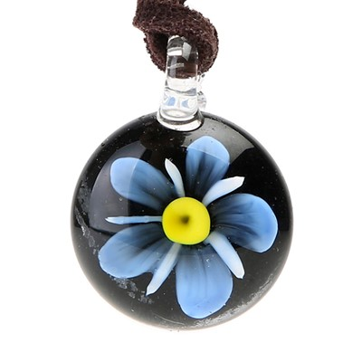 Glass Pendant - Forget-Me-Not