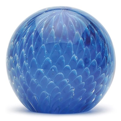 Large Paperweight - Blue Web Glow