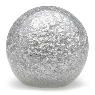 Large Paperweight - Platinum Flakes