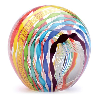 Large Canework Paperweight - Rainbow