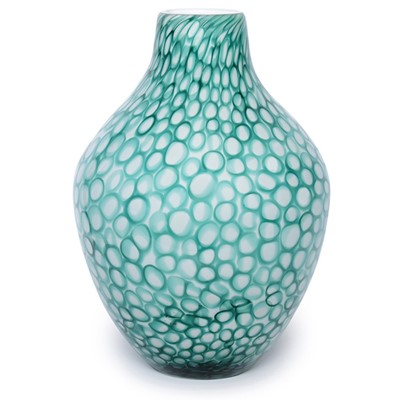 Mod Rings Acorn Vase - Blue Teal