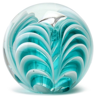 Large Paperweight - Zebra Teal