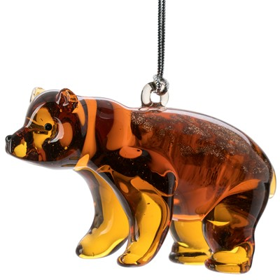 Glassdelights Ornament Grizzly bear