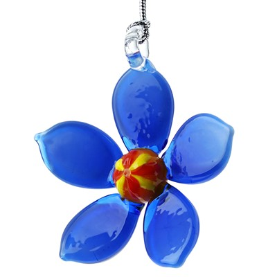 Glassdelights Ornament - Forget Me Not Flower