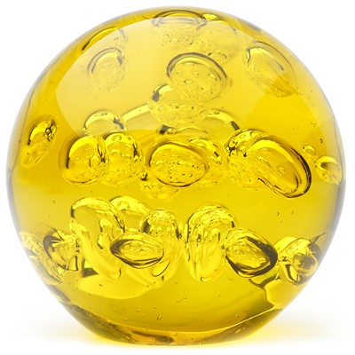 Large Spa Bubbles Paperweight - Citrine