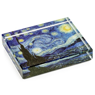 DeskPop Crystal Paperweight - Starry Night