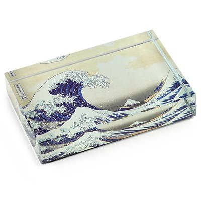 DeskPop Crystal Paperweight - The Great Wave off Kanagawa