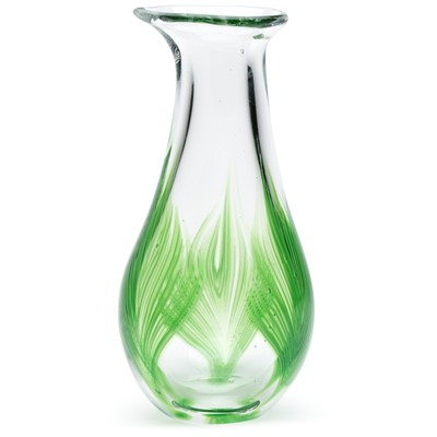 Glass Bud Vase - Palm Leaf