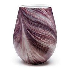 Violet Feather Wide Vase