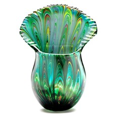 Peacock Tail Vase