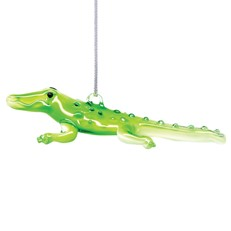 Glassdelights Ornament Alligator