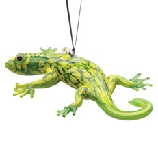 Glassdelights Ornament Gecko - Green