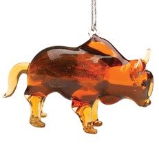 Glassdelights Ornament Bison