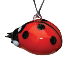 Glassdelights Ornament Lady Bug
